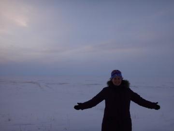 Kelly Graves at Hudsons Bay, Kuujjuarapik- Whapmagoostui, Quebec) (credit K.Graves).